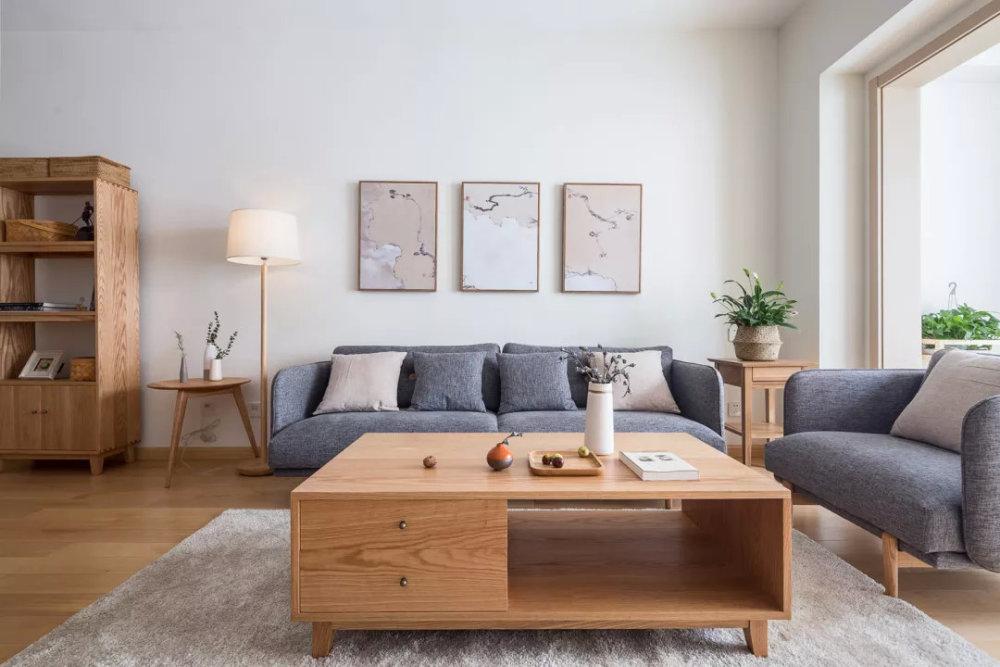 90平米日式简约风格装修效果图赏析 自然原木色的淡雅空间
