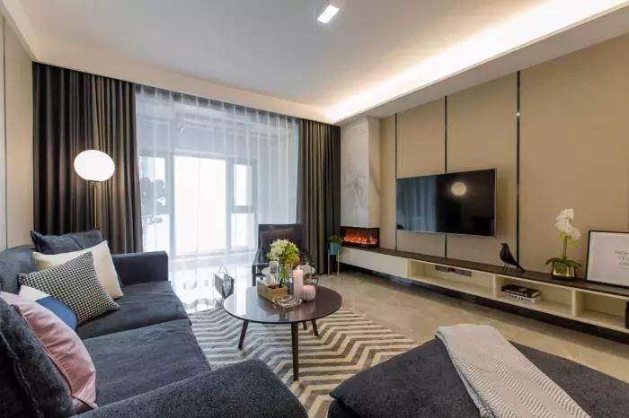 [装修案例]110平米三室两厅现代轻奢风格效果图 你也能拥有的品质生活