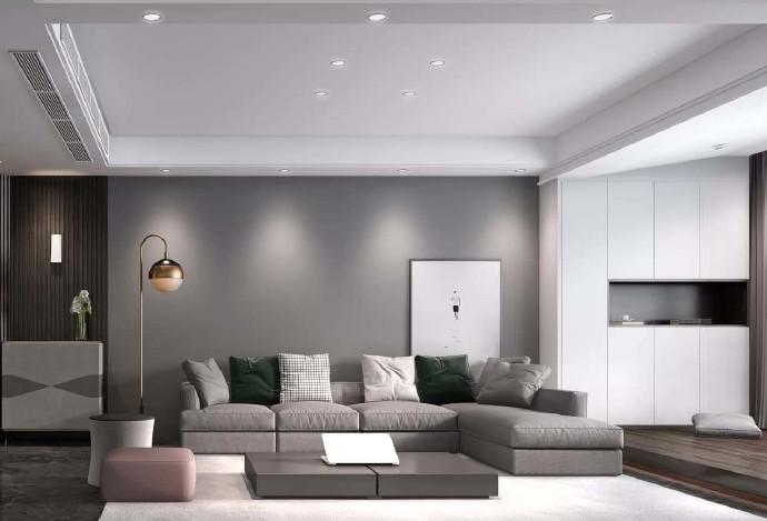 [装修案例]129平现代简约风格装修案例,黑白灰的完美诠释